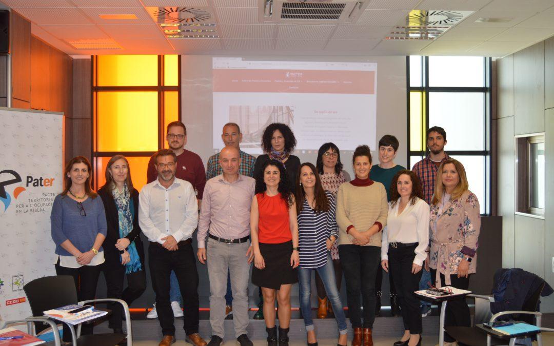 Reunión de trabajo en la sede del Pacto Territorial de la Ribera